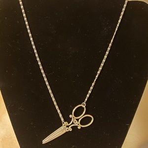 *NWOT* Vintage Style Scissor Pendant Necklace